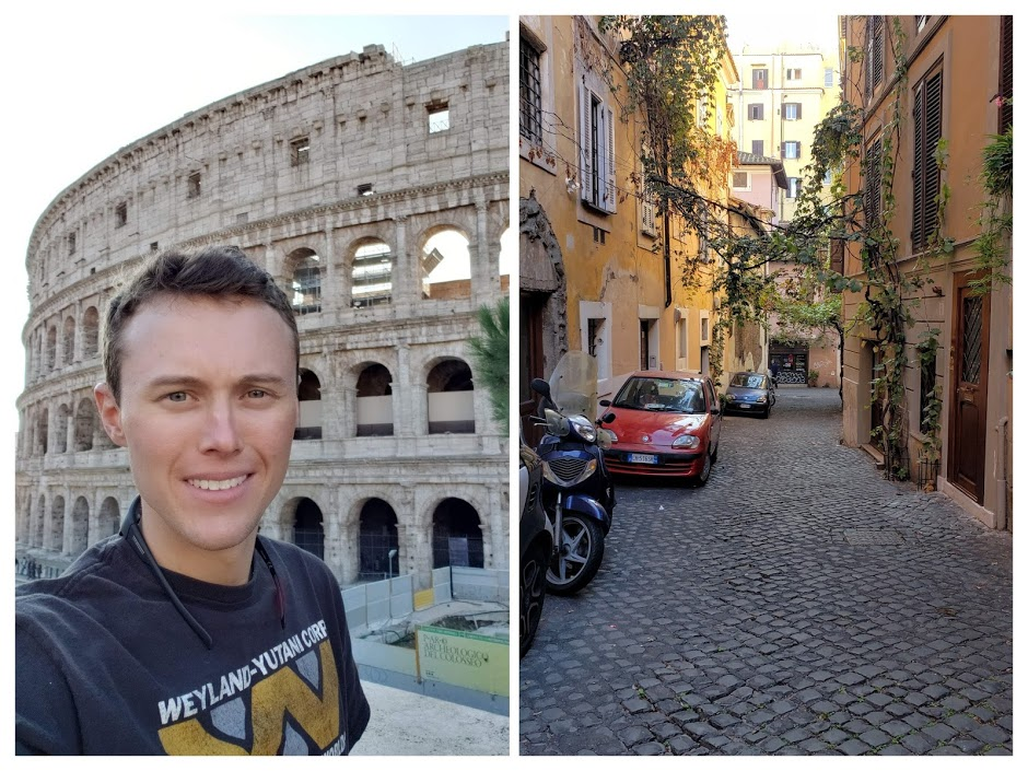 Two sides of Rome